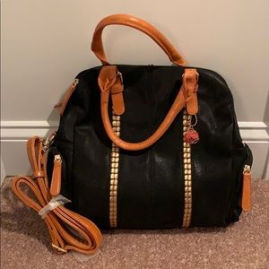 Black and tan Big Buddha purse. New w/o tags.